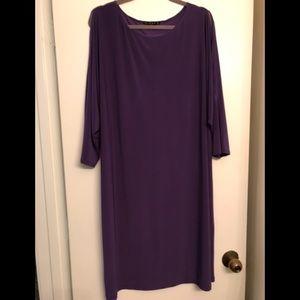 Tiana B. Purple Cold Shoulder Long Sleeve Dress 2x